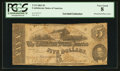 Confederate Notes:1862 Issues, Mismatched Plate Letters T53 $5 1862 PF-5 Cr. 384A.. ...