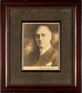 Autographs:Photos, Circa 1930 President Franklin D. Roosevelt Signed Photograph....
