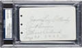 Baseball Collectibles:Others, 1923 Jim Bottomley Signed Album Page, PSA/DNA Gem Mint 10. ...