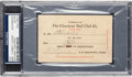 Baseball Collectibles:Others, 1906 Napoleon Lajoie Signed Cleveland Baseball Pass. ...