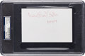 Baseball Collectibles:Others, 1974 Bill Foster Signed Oversized Index Card - Rare Negro LeagueAutograph PSA/DNA Authentic. ...