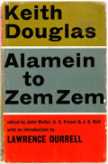 Books:World History, Keith Douglas. Alamein to Zem Zem. New York: Chilmark Press, 1966. Second printing. With a forward by Lawrence D...