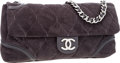 Luxury Accessories:Bags, Chanel Gray Microsuede Maxi Flap Bag with Silver Hardware. ...