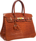 Luxury Accessories:Bags, Hermes 30cm Matte Fauve Barenia Nilo Crocodile Birkin Bag with GoldHardware. ...
