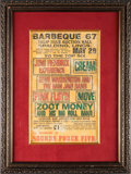 Miscellaneous Collectibles:General, 1967 Jimi Hendrix, Pink Floyd, Cream & Others Barbeque ConcertPoster....