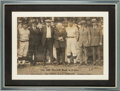 Autographs:Photos, 1924 Babe Ruth, Ty Cobb, Walter Johnson, John McGraw & More Signed Large Photograph....