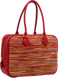 Luxury Accessories:Bags, Hermes 28cm Rouge Vif Togo & Vibrato Leather Plume Bag withGold Hardware . ...