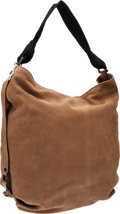 Luxury Accessories:Bags, Lanvin Light Brown Nubuck Leather Hobo Bag with Antiqued GoldHardware. ...