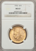Indian Eagles: , 1932 $10 MS63 NGC. NGC Census: (24574/14264). PCGS Population(18929/10410). Mintage: 4,463,000. Numismedia Wsl. Price for ...
