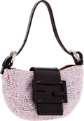 Luxury Accessories:Bags, Fendi Pink Beaded Croissant Baguette Micro Evening Bag. ...