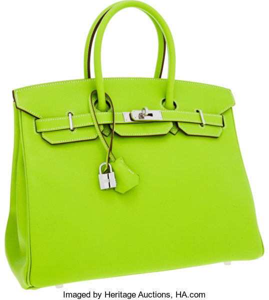 cfdf5a7929d Hermes Limited Edition Candy Collection 35cm Kiwi