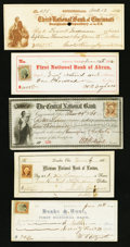 Obsoletes By State:Ohio, Ohio Group of Post-Civil War Checks and Drafts 23 Examples Fine andBetter.. ... (Total: 23 items)