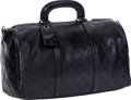 Luxury Accessories:Travel/Trunks, Chanel Black Quilted Lambskin Leather Boston Travel Bag. ...