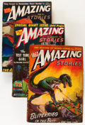 Pulps:Science Fiction, Amazing Stories Group (Ziff-Davis, 1942-43) Condition: AverageVG.... (Total: 7 Comic Books)