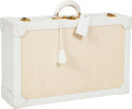 Luxury Accessories:Travel/Trunks, Hermes 55cm White Gulliver Leather & Crinoline Espace Suitcase....