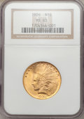 Indian Eagles: , 1926 $10 MS63 NGC. NGC Census: (14846/5031). PCGS Population(11116/3682). Mintage: 1,014,000. Numismedia Wsl. Price for pr...