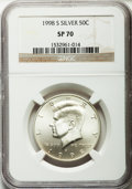 SMS Kennedy Half Dollars, 1998-S 50C Silver SMS SP70 NGC. NGC Census: (479). PCGS Population(280). Numismedia Wsl. Price for problem free NGC/PCGS ...