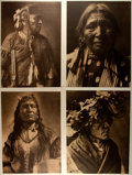 Books:Prints & Leaves, [Edward Curtis, Native Americans]. Group of Four Sepia-TonedReproductions of Edward Curtis Indian Portraits. Measure 14.5 x...