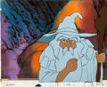 Animation Art:Production Cel, Lord of the Rings Gandalf Production Cel Set-Up andBackground Animation Art (United Artists, 1978).... (Total: 3Items)