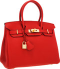 Luxury Accessories:Bags, Hermes 30cm Geranium Togo Leather Birkin Bag with Gold Hardware....