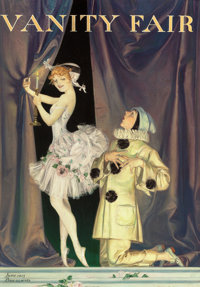 FRANK XAVIER LEYENDECKER (American, 1877-1924) Pierrot and Columbine, Vanity Fair magazine cover, June
