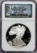 Modern Bullion Coins, 1986-2005 SET Proof Silver Eagle Set, 20th Anniversary Collection PR69 Ultra Cameo NGC. #268 o... (Total: 20 coins)