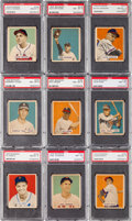 Baseball Cards:Lots, 1949 Bowman Baseball High Numbers Graded NM-MT 8 (30). ...