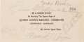 Autographs:Others, 1941 Jimmie Foxx & Frank Baker Signed Ticket....