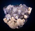 Minerals:Cabinet Specimens, FLUORITE with BARYTE, SPHALERITE and CALCITE. Elmwood Mine,Carthage, Central Tennessee Ba-F-Pb-Zn District, Smith Co., Te...(Total: 2 Items)