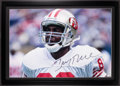 Football Collectibles:Photos, Jerry Rice Signed Oversized Photograph....