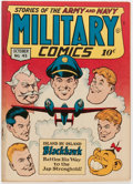 Golden Age (1938-1955):War, Military Comics #43 (Quality, 1945) Condition: VF....