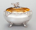 Other:American, AN F.B. ROGERS SILVER-PLATED FOOTED FIGURAL NUT BOWL. F.B. RogersSilver Company, Taunton, Massachusetts, circa 1880. Marks:...