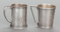 Silver & Vertu:Hollowware, TWO WHITING SILVER CHILD'S CUPS. Whiting Manufacturing Company, New York, New York, circa 1880. Marks: (W-griffin), STERLI... (Total: 2 )
