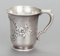 A WILLIAM GALE & SON COIN SILVER CHILD'S CUP William Gale & Son, New York, New York 1855 Marks: W.G&S, E...