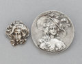 Silver Smalls:Other , TWO UNGER BROTHERS SILVER BROOCHES . Unger Brothers, Newark, NewJersey, circa 1903. Marks: UB (interlaced), STERLING,...(Total: 2 Items)