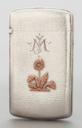 Silver Smalls:Other , A GORHAM SILVER AND COPPER CARD CASE. Gorham Manufacturing Co.,Providence, Rhode Island, 1882. Marks: (lion-anchor-G),ST...