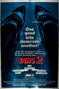 Miscellaneous:Movie Posters, [Movie Posters]. Jaws Two. Reprint. Universal Pictures, 1980. Starring Roy Schneider, Lorraine Gary and Murray Hamil...