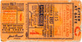 Baseball Collectibles:Tickets, 1927 World Series Game Four Ticket Stub....