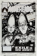 Original Comic Art:Covers, Tom Richmond and Jimmy Palmiotti Coneheads #1 Cover OriginalArt (Marvel, 1993)....