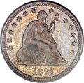 Seated Quarters, 1873-CC 25C No Arrows MS63 PCGS. Briggs 1-A....