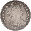 Early Half Dollars: , 1807 50C Draped Bust VF30 NGC. O-105. NGC Census: (145/545). PCGSPopulation (59/415). Mintage: 301,076. Numismedia Wsl. Pr...