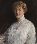 Fine Art - Painting, American:Modern  (1900 1949)  , WILLIAM MERRITT CHASE (American, 1849-1916). Lady in a WhiteBlouse, 1912. Oil on canvas. 25-5/8 x 21-1/4 inches (65.1 x...