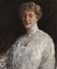 WILLIAM MERRITT CHASE (American, 1849-1916) Lady in a White Blouse, 1912 Oil on canvas 25-5/8 x 21-1/4 inches (65.1 x