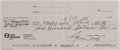 Autographs:Checks, 1995 Willie Mays Signed Check....