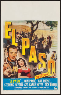 "El Paso (Paramount, 1949). Window Card (14"" X 22""). Western"