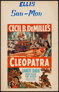 "Movie Posters:Drama, Cleopatra (Paramount, R-1952). Window Card (14"" X 22""). Drama.. ..."