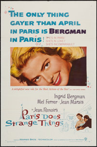 "Paris Does Strange Things (Warner Brothers, 1956). One Sheet (27"" X 41""). Foreign"