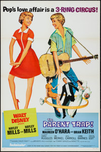 "The Parent Trap (Buena Vista, R-1968). One Sheet (27"" X 41"") Style B. Comedy"