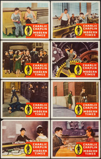 """Modern Times (United Artists, R-1958). Lobby Card Set of 8 (11"""" X 14""""). Comedy. ... (Total: 8 Items)"""