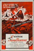 "Movie Posters:Adventure, The Sharkfighters & Other Lot (United Artists, 1956). OneSheets (27"" X 41"") Regular & Style C. Adventure.. ... (Total: 2Items)"